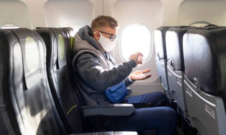 Is it allowed to use disinfectant spray in flight?